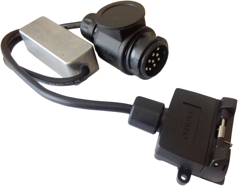 cm trailer plug - 13 pin euro plug to 7 pin flat socket - led, Wiring diagram