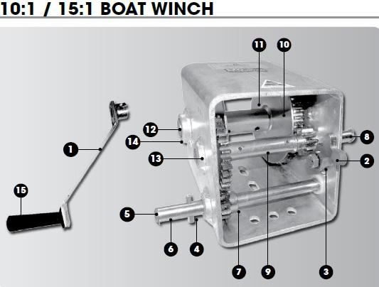 Cm Winch Spares 15 1 Wide Body Cm Trailer Winch Parts