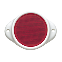 Narva Reflector Red 80mm Round Dual Hole