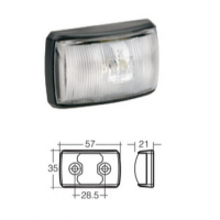 LED Marker Lamp - Model 14 - White - Front Only