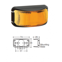 LED Marker Lamp - Model 16 - Amber - Front Only
