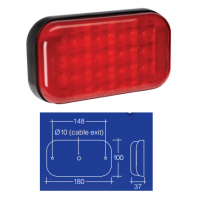 Narva Model 42 LED Tail Lamp - 9-33 volt - Red
