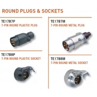 CM Trailer Plug - 7 Pin Large Round Plug or Socket