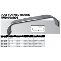 CM Mudguard Tandem Axle Steel Roll Formed Guard  Round  Pair