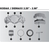 "Kodiak/DeeMaxx Hyd Disc Brake Caliper - 2.50"" Parts only"