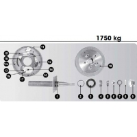 CM Electric Drum Brake - Spare Parts - 10in 1750kg