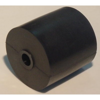 105mm L Marin X Side Roller Black Rubber
