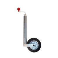 ALKO Jockey Wheel - European - 200mm Compact Rubber/Steel Wheel