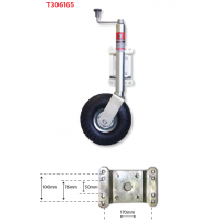 Trojan Jockey Wheel - 350mm x 4 Ply Pneumatic Tyre (Swivel Style)