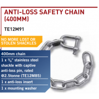 CM Trailer Safety Chain Set - No Loss SS Shackle