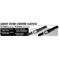 CM Door Latch - Over Centre - Light Steel