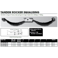 Tandem Axle Spring Set  Slipper  Equalised HD