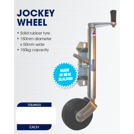 CM Jockey Wheel - Swivel Mount - 150mm Rubber Wheel