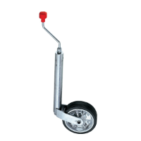 ALKO Jockey Wheel - European - 200mm HD Steel/Rubber Wheel