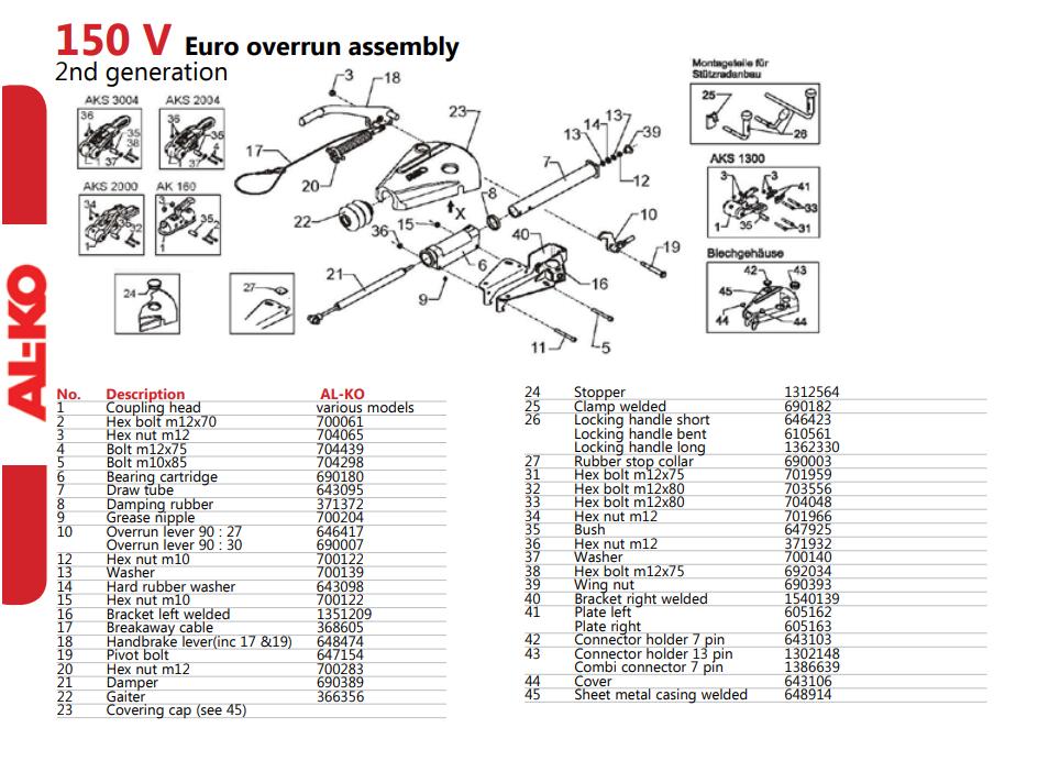 Alko Coupling 150v Delta Parts Spare Parts Diagram Alko