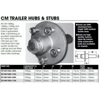 CM Hub & Stub Axle Kit - 1500kg LM - 190mm Hub - Long Stub